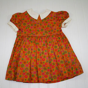 Vintage Toddlin Times Size 2T Floral Dress